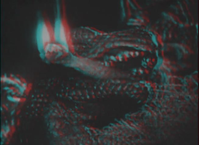 Big Al with Torch 3D ! Allosaurus from The Lost World with torch in mouth in 3D