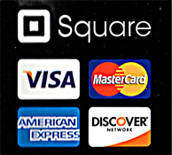 Accespt Visa, Mastercard, Amex and Discover